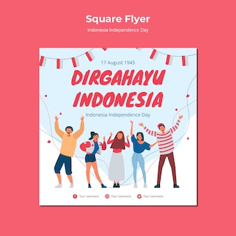 Indonesië onafhankelijkheidsdag flyer ontwerpen