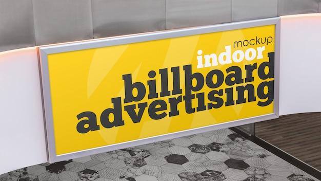 Indoor billboard advertising mockup