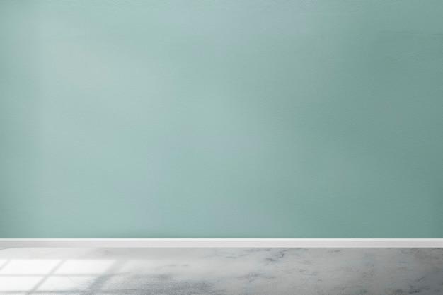 Industriële kamer muur mockup psd in groenblauw