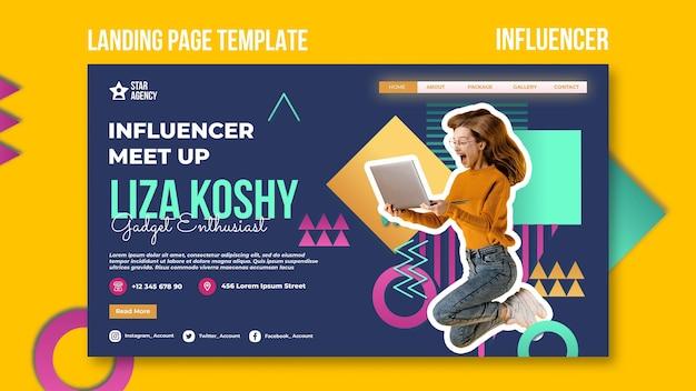 Influencer-bestemmingspagina-sjabloon