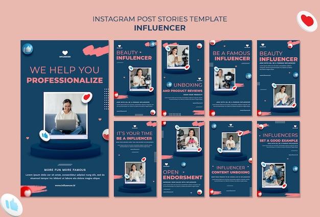 Influencer instagram-verhalen