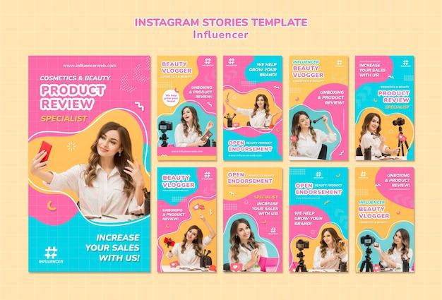 Influencer instagram-verhalencollectie