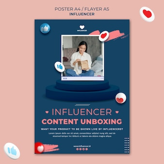 Influencer poster sjabloon
