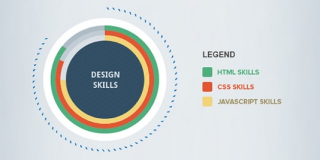 Infografía simples psd