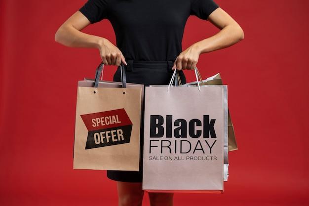 Informatieve campagne voor zwarte vrijdag verkoop
