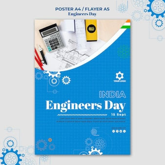 Ingenieurs dag poster sjabloon