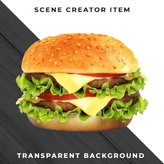 Ingrediente de hamburguesa psd transparente