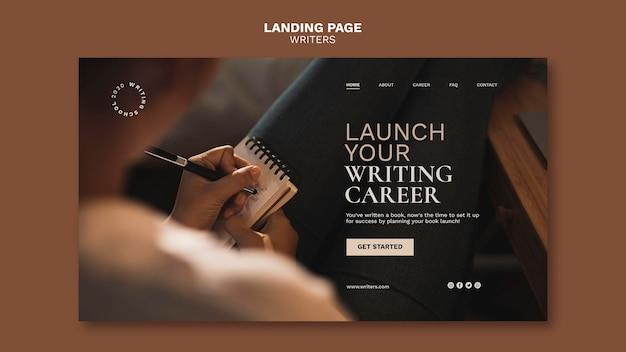 Inicie la página de inicio de su carrera de redacción