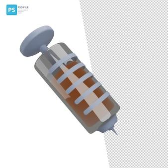 Injectie in 3d-illustratieontwerpactiva