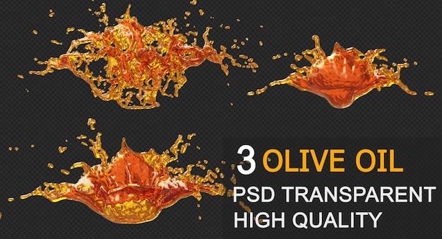 Inkt olie splash cirkel rond frame in 3d-rendering geïsoleerd ontwerp