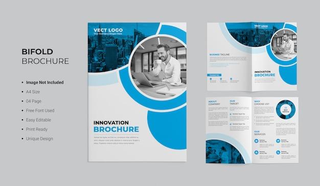 Innovatie tweevoudig brochureontwerp