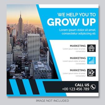 Insegna quadrata della posta di instagram di affari