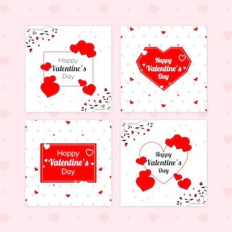 Insieme della bandiera di vendita di san valentino