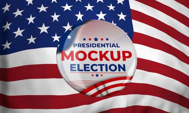 Insignia de la elección presidencial de maqueta para estados unidos