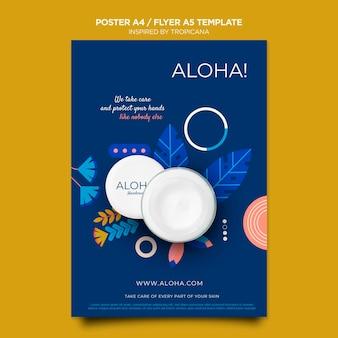 Inspirado en la plantilla de póster tropicana a4