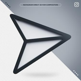 Instagram 3d diretto per la composizione