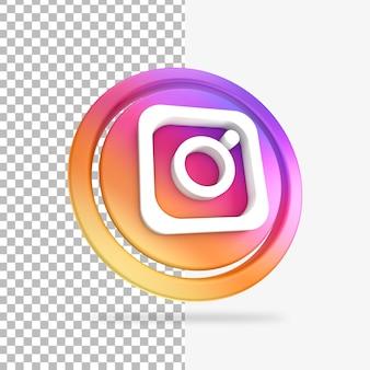 Instagram 3d render cirkel pictogram