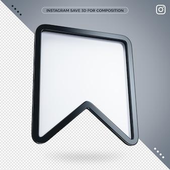 Instagram 3d salva per la composizione