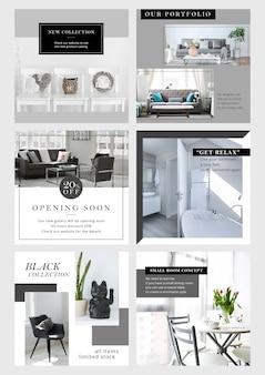 Instagram-bannermalplaatje - zwart-wit