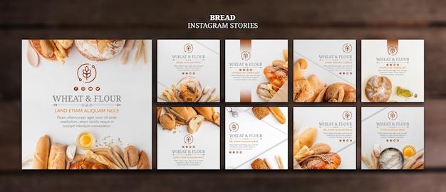 Instagram-berichten met tarwe en meelbrood