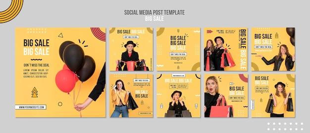 Instagram-berichtenverzameling voor grote verkoop