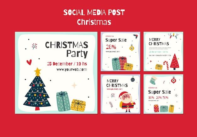 Instagram-berichtenverzameling voor kerstmis