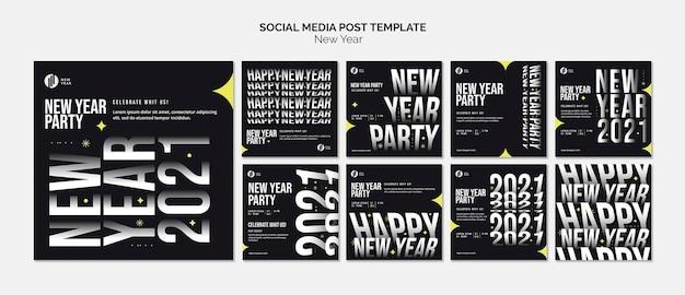 Instagram-berichtenverzameling voor nieuwjaarsfeest