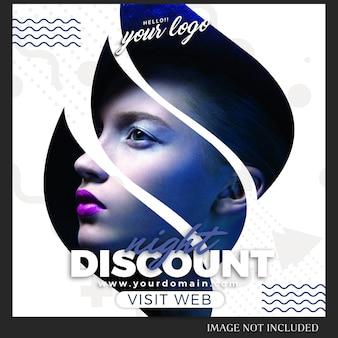 Instagram-berichtsjabloon voor verkoop, winkelen, winkel, campagne, collectie concept