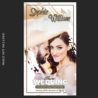Instagram bruiloft verhalen sjabloon