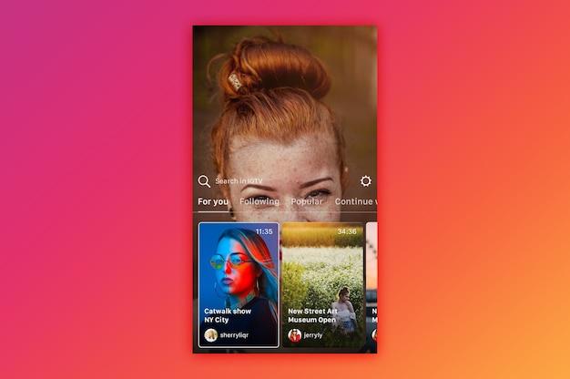 Instagram igtv maqueta