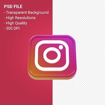 Instagram logo 3d-pictogram weergave geïsoleerd
