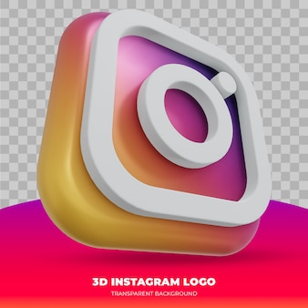 Instagram-logo geïsoleerd in 3d-rendering