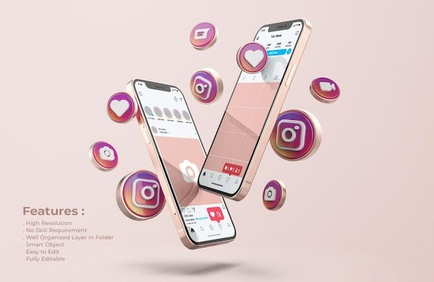 Instagram op rose gold mobiele telefoonmodel