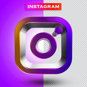 Instagram pictogram 3d render modern
