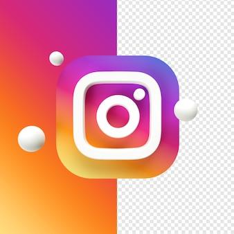 Instagram pictogram transparant 3d