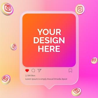 Instagram post mockup of social media post mockup