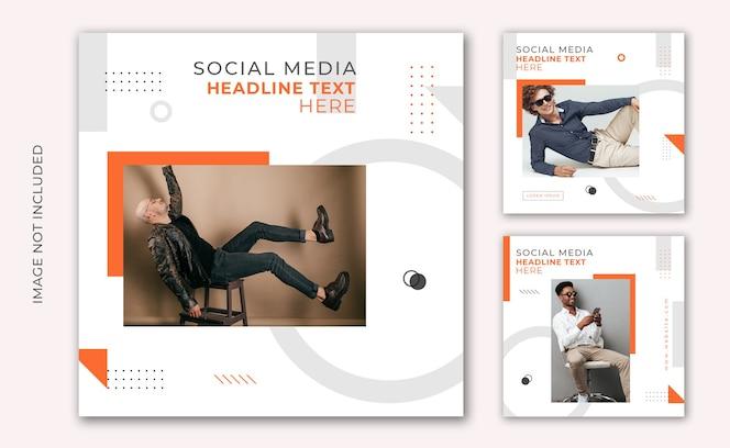 Instagram post mode verkoop sociale media en websjabloon voor spandoek