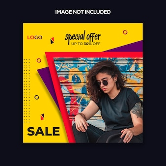 Instagram post-sjabloon of vierkante banner mode modern design