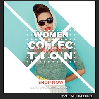 Instagram post template para ventas, compras, tienda, campaña, concepto de colección
