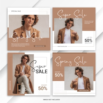 Instagram postbundel spring fashion sale template
