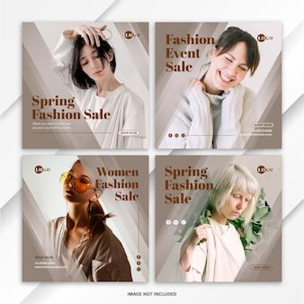 Instagram postbundel spring fashion sale template