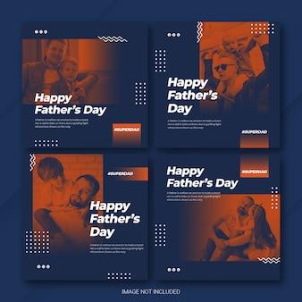 Instagram Postbundel Vaderdagsjabloon