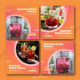 Instagram postbundel zomertijdsjabloon