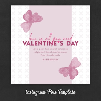 Instagram-postsjablonen voor valentijnsdag