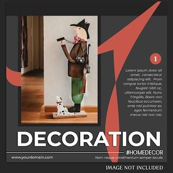 Instagram-postsjabloon met decoratieconcept