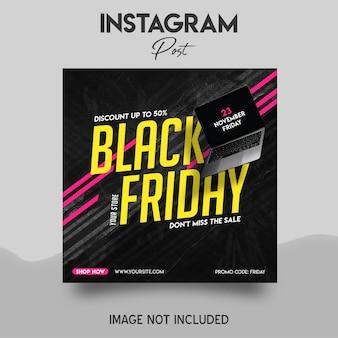 Instagram-postsjabloon voor black friday-uitverkoop
