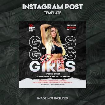 Instagram-postsjabloon voor meisjesfeest