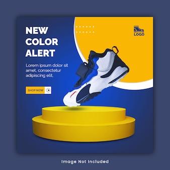 Instagram-postsjabloon voor sneakers