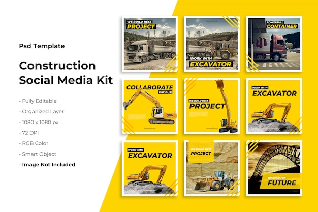 Instagram postverzameling over constructie