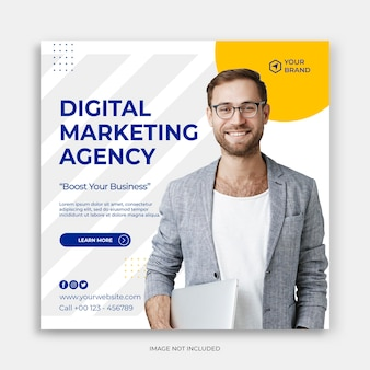 Instagram-sjabloon digitale zakelijke marketing sociale media plaatsen banner of vierkante flyer